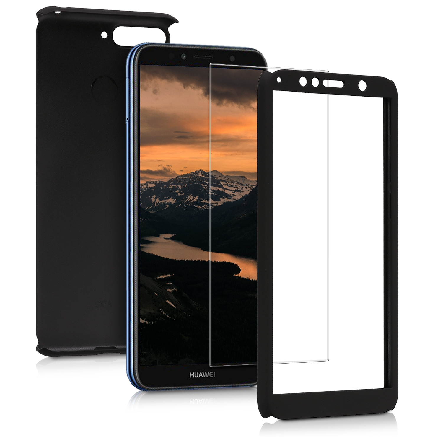KW Θήκη Full Body για Huawei Y6 2018 & Tempered Glass - Black (45639.68)