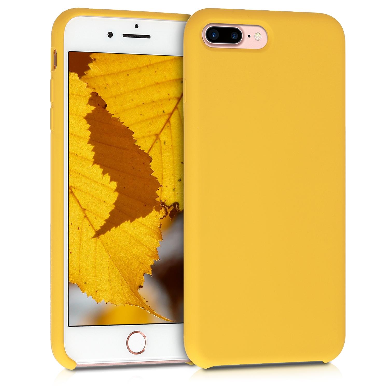 KW Θήκη Σιλικόνης Apple iPhone 7 Plus / 8 Plus - Soft Flexible Rubber - Honey Yellow (40842.143)