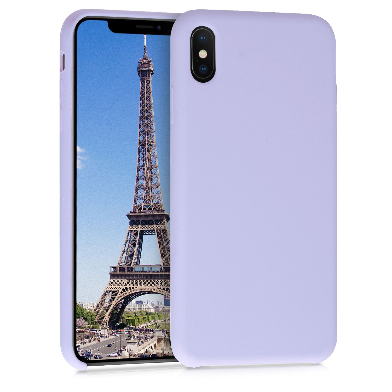 KW Θήκη Σιλικόνης iPhone XS Max - Soft Flexible Rubber Protective Cover - Light Lavender (45909.139)