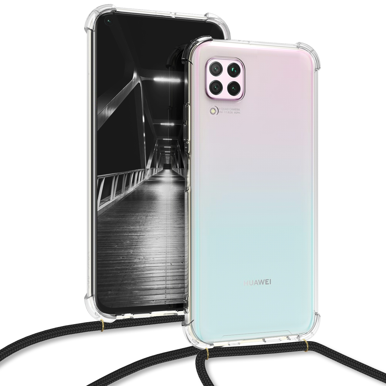 KW Θήκη Σιλικόνης με Λουράκι Λαιμού Huawei P40 Lite - Transparent (51847.03)