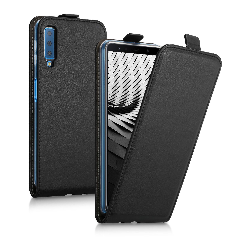 KW Flip Θήκη Samsung Galaxy A7 2018 - Black (46428.01)
