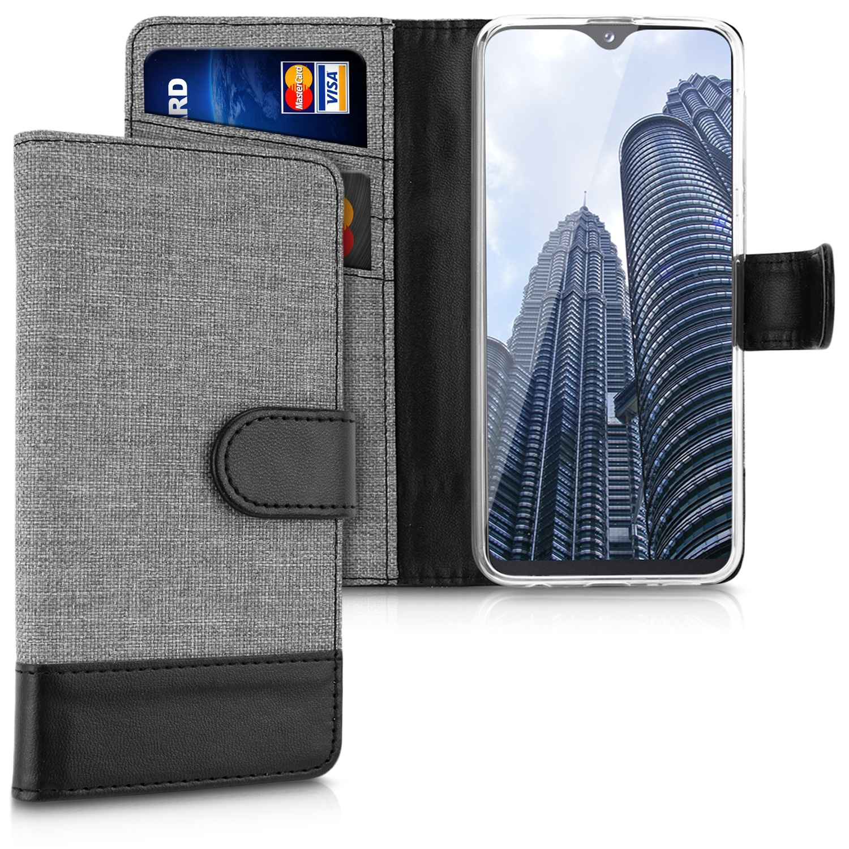 KW Θήκη Πορτοφόλι Samsung Galaxy A20e - Grey / Black (48741.22)