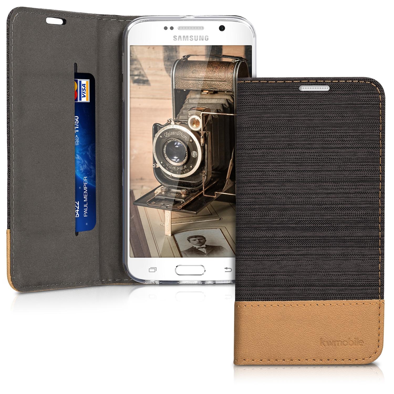 KW Θήκη - Πορτοφόλι Samsung Galaxy S6 - Anthracite Brown (36197.73)