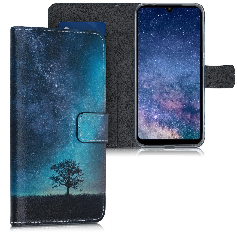 KW Θήκη Πορτοφόλι Xiaomi Redmi 7 - Blue / Grey / Black (48655.01)