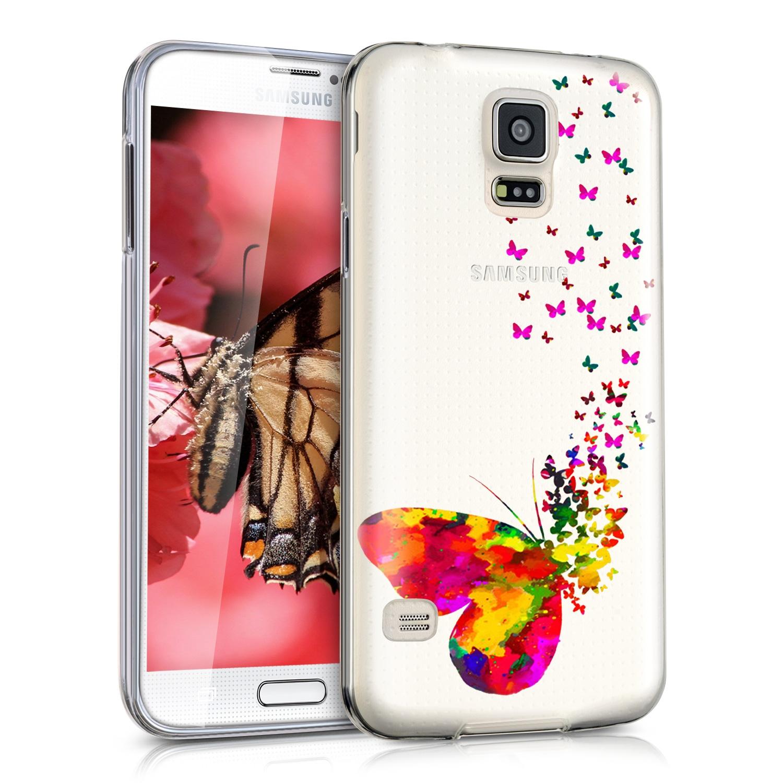KW Θήκη Σιλικόνης Samsung Galaxy S5 / S5 Neo - Multicolor / Transparent (35804.03)