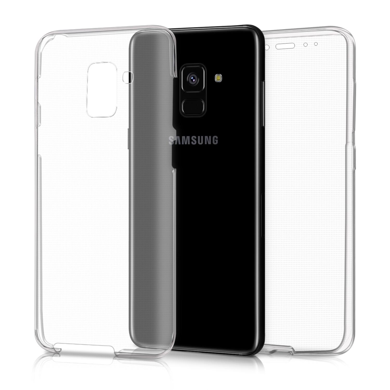 KW Διάφανη Θήκη Σιλικόνης Full Body Samsung Galaxy A8 2018 - Transparent (43807.03)