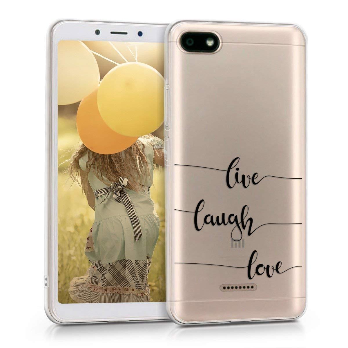 KW Θήκη Σιλικόνης Διάφανη Xiaomi Redmi 6A - Live Laugh Love (45587.01)