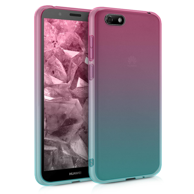 KW Θήκη Σιλικόνης Ημιδιάφανη Huawei Y5 / Y5 Prime 2018 - Dark Pink Blue Transparent (46484.03)