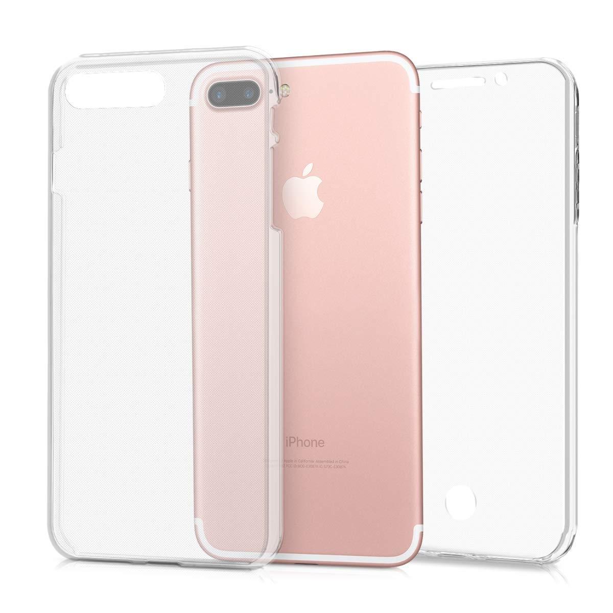 KW Διάφανη Θήκη Σιλικόνης Full Body iPhone 8 Plus / 7 Plus - Transparent (44957.03)