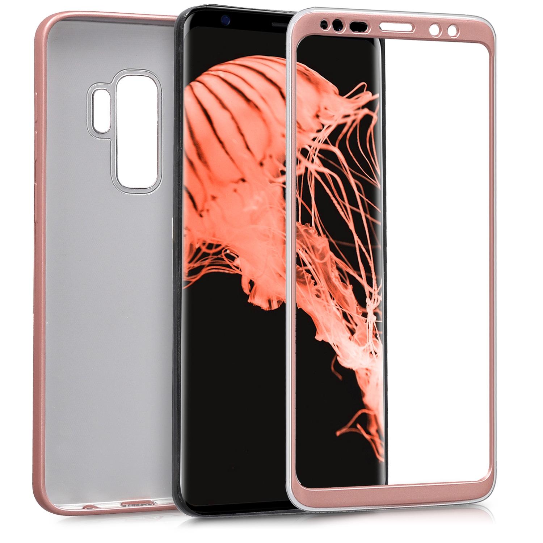KW Θήκη Σιλικόνης Full Body Samsung Galaxy S9 Plus - Metallic Rosegold (44485.31)