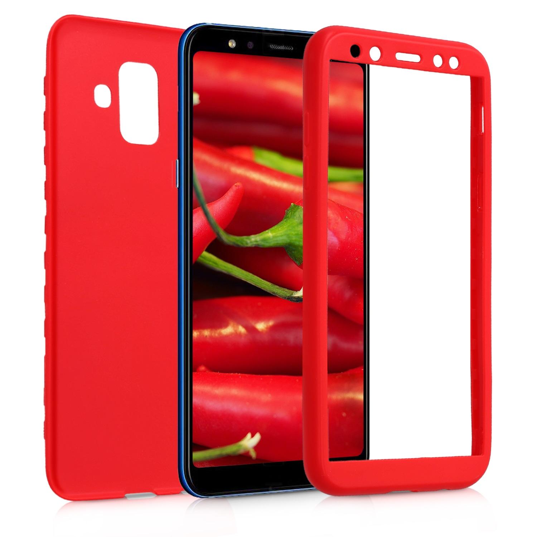 KW Θήκη Σιλικόνης Full Body Samsung Galaxy Galaxy A6 2018 - Red (45254.36)