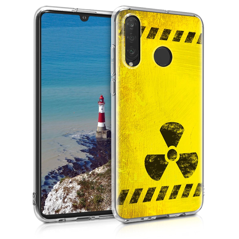 KW Θήκη Σιλικόνης Huawei P30 Lite - Black / Yellow (47500.08)
