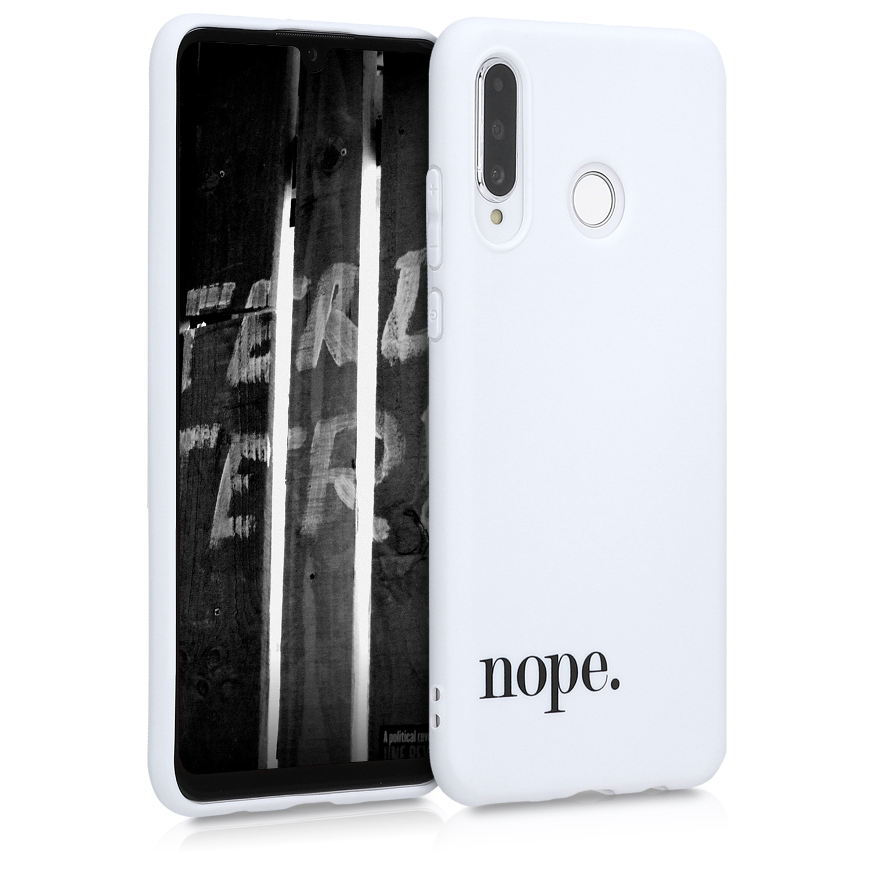 KW Θήκη Σιλικόνης Huawei P30 Lite - Black / White (48539.01)