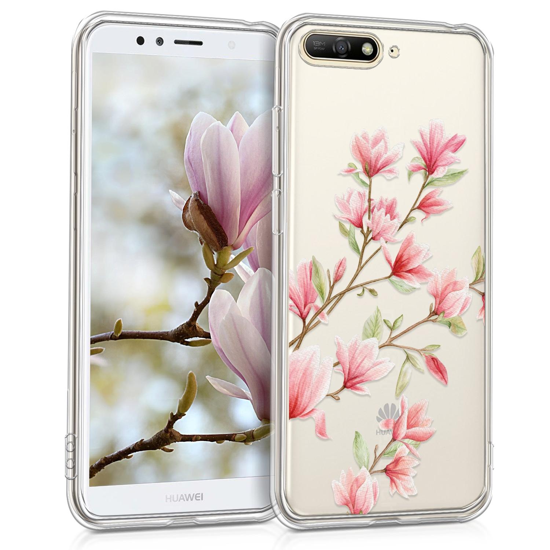 KW Θήκη Σιλικόνης Huawei Y6 2018 - Magnolias Pink White (44877.06)