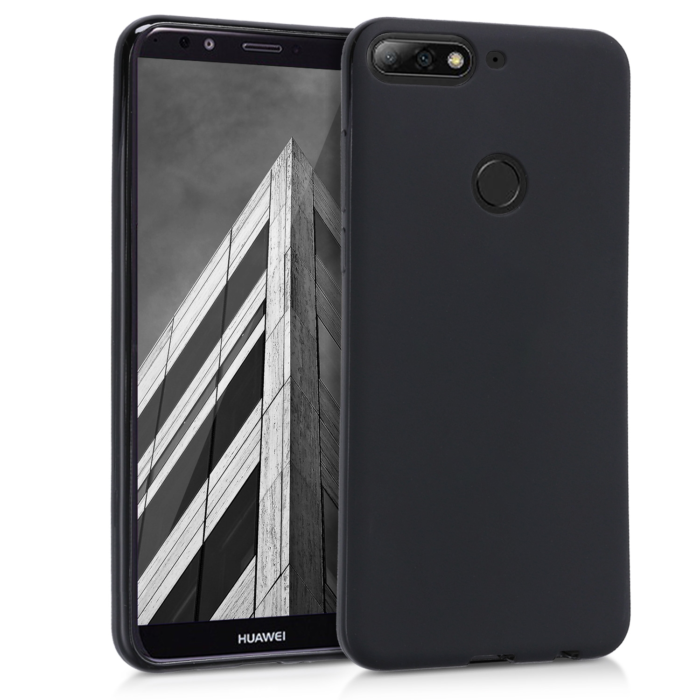 KW Θήκη Σιλικόνης Huawei Y7/ Y7 Prime 2018 - Black Matte (44823.47)