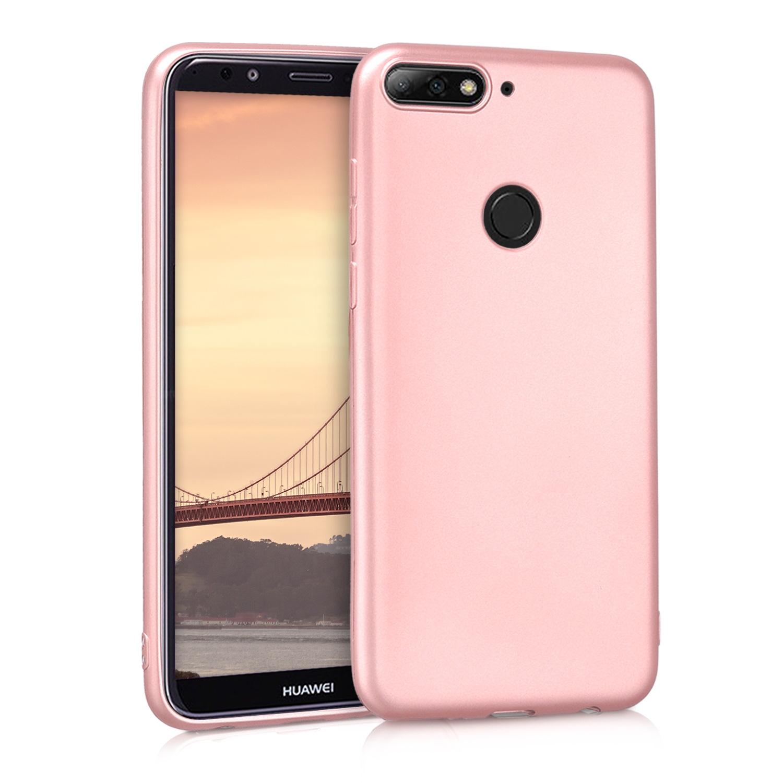 KW Θήκη Σιλικόνης Huawei Y7/ Y7 Prime 2018 - Metallic Rosegold (44823.31)