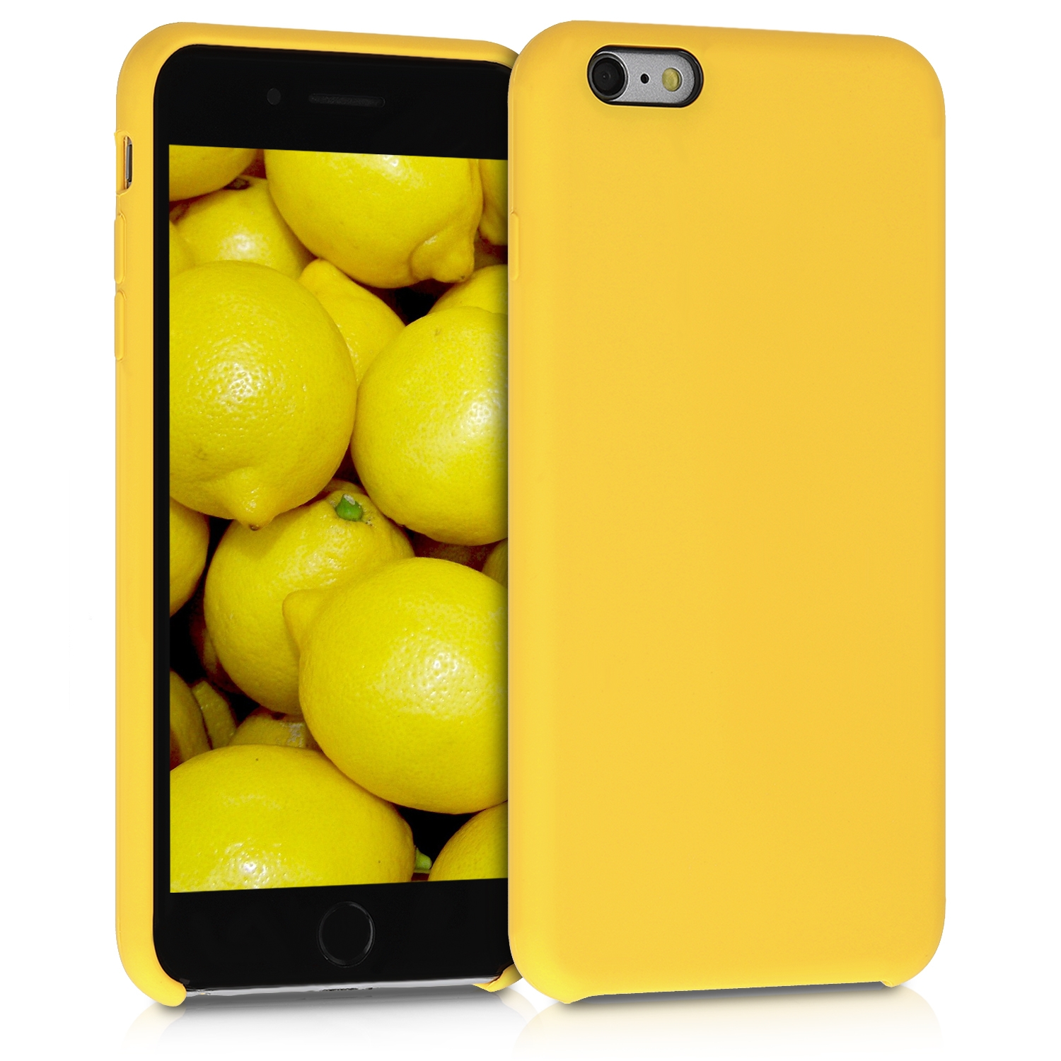 KW Θήκη Σιλικόνης Apple iPhone 6 Plus / 6S Plus - Soft Flexible Rubber Protective Cover - Honey Yellow (40841.143)