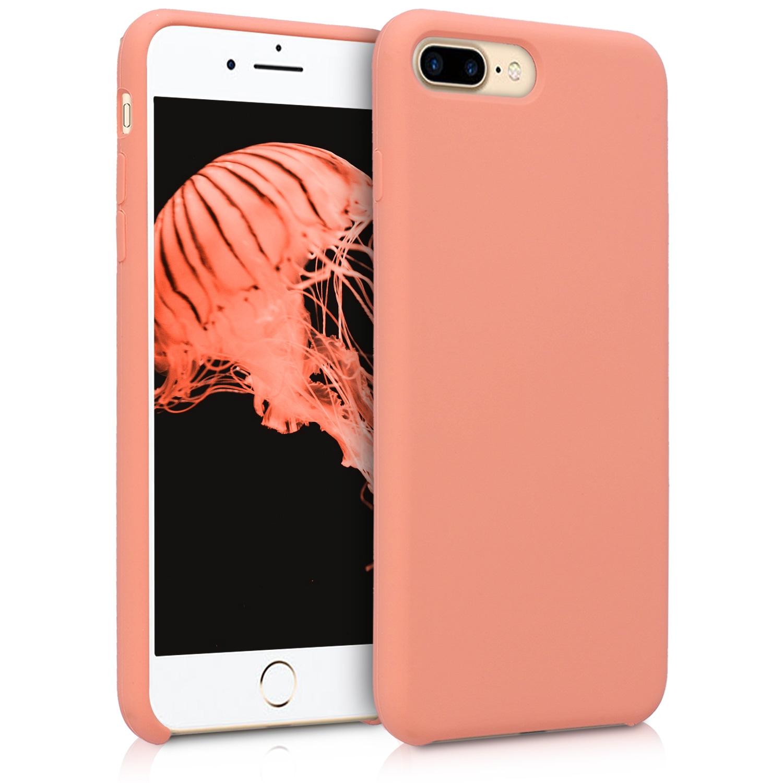 KW Soft Flexible Rubber Θήκη Σιλικόνης iPhone 8 Plus / iPhone 7 Plus - Coral Matte (40842.56)