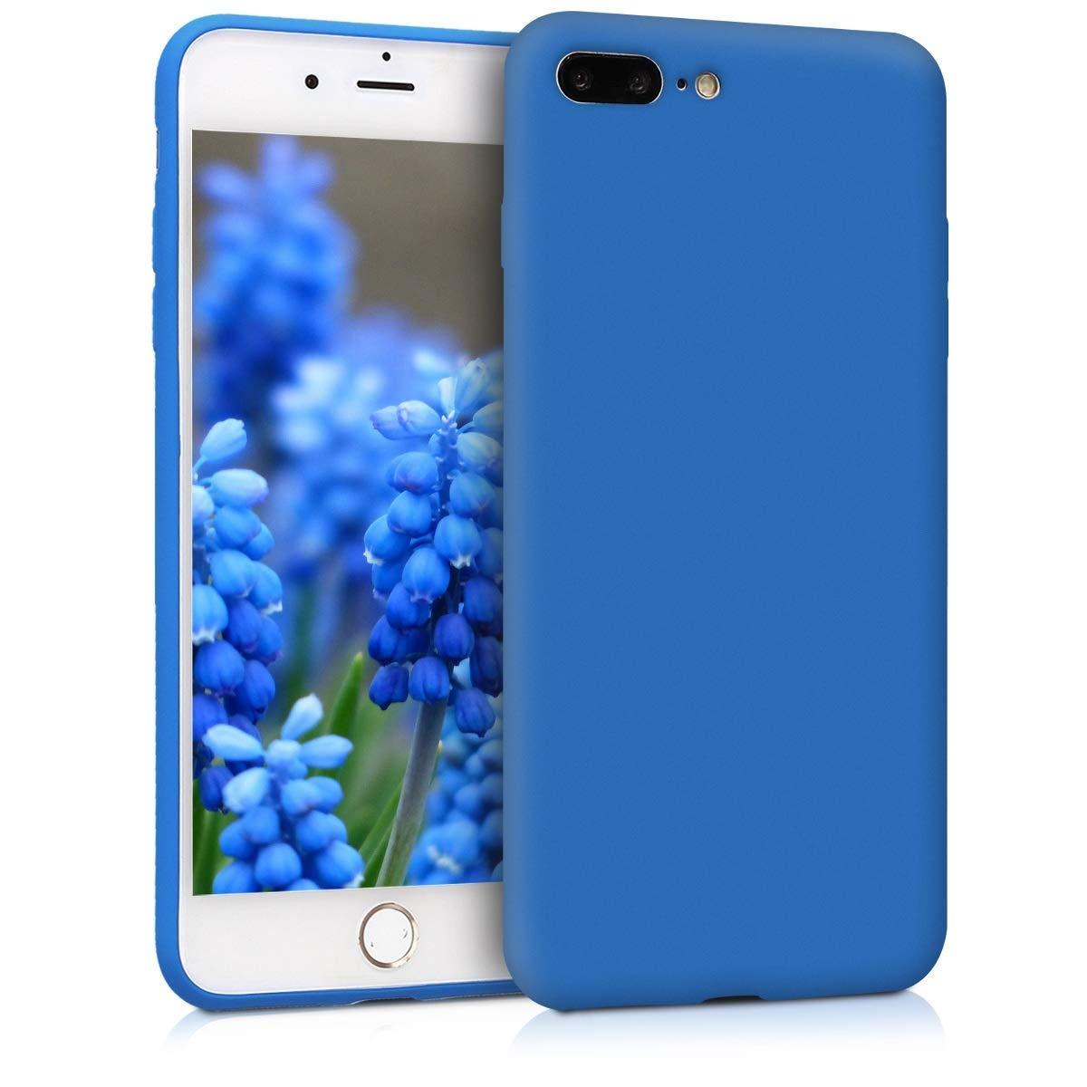 KW Θήκη Σιλικόνης iPhone 8 Plus / iPhone 7 Plus - Neon Blue (45354.104)