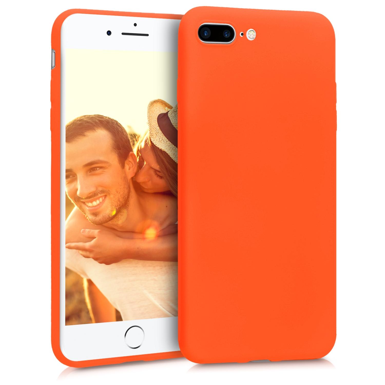 KW Θήκη Σιλικόνης iPhone 8 Plus / iPhone 7 Plus - Neon Orange (45354.69)
