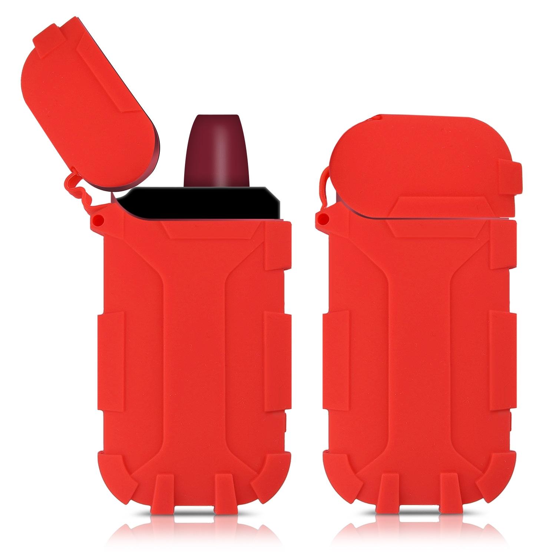 KW Θήκη Σιλικόνης για IQOS 2.4 / 2.4 Plus Pocket Charger - Red (42593.09)