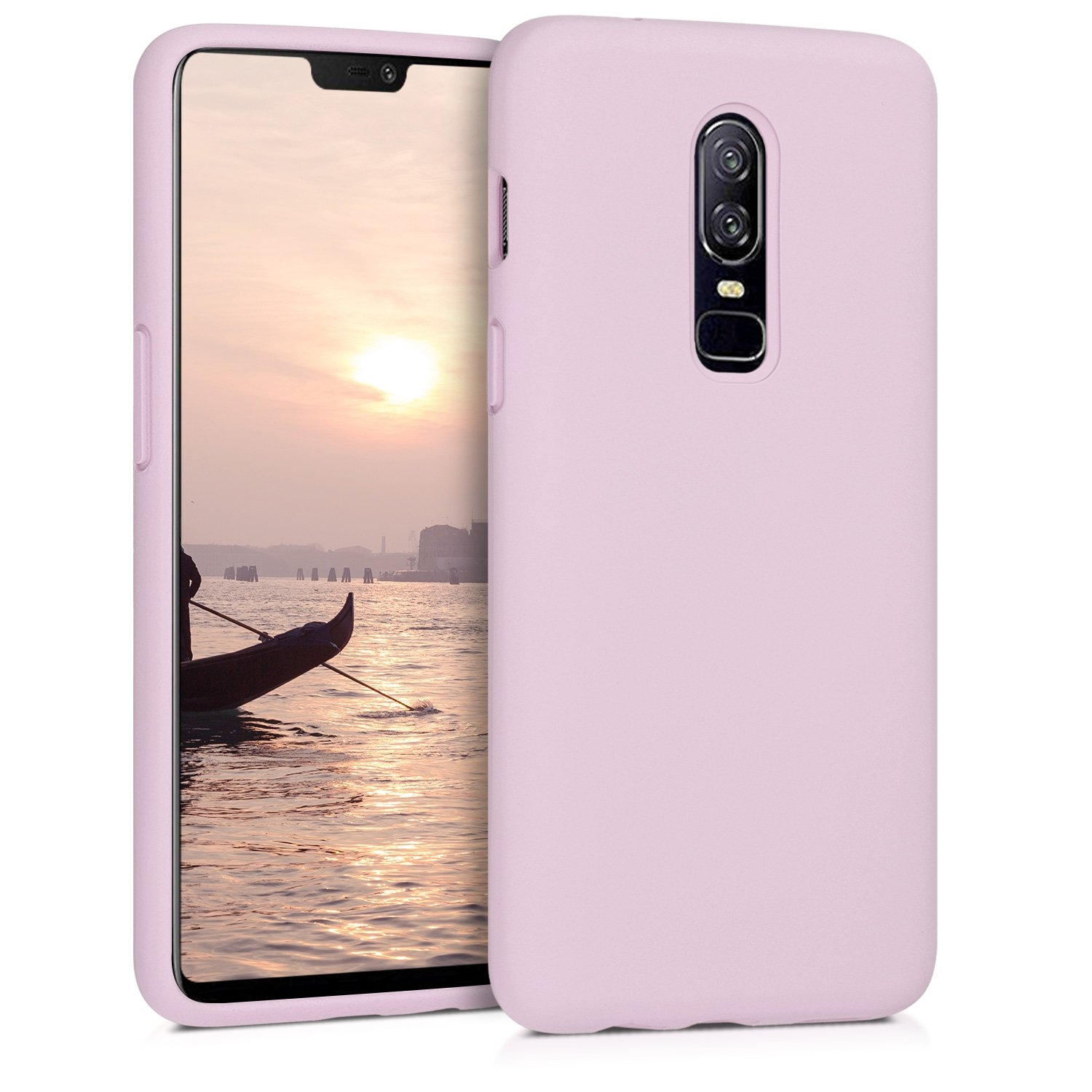KW Θήκη Σιλικόνης OnePlus 6 - Soft Flexible Rubber Protective Cover - Mauve (46122.140)