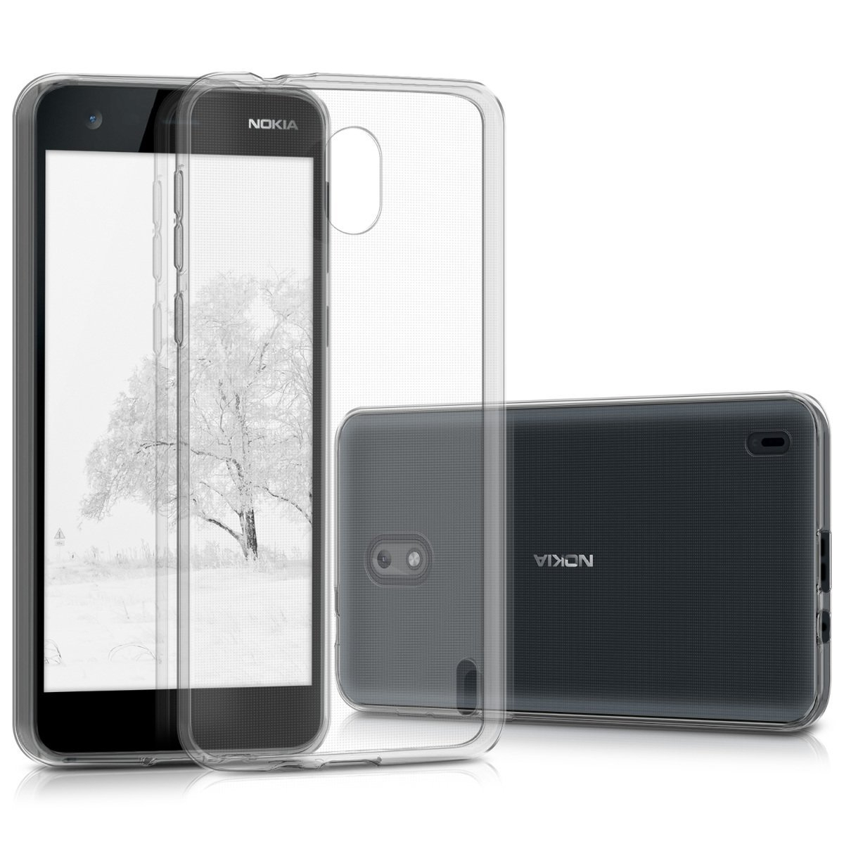 KW Διάφανη Θήκη Σιλικόνης Nokia 2 - Transparent (43300.03)
