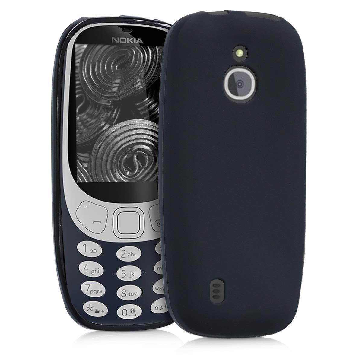 KW Θήκη Σιλικόνης Nokia 3310 3G 2017 / 4G 2018 - Black Matte (44430.47)
