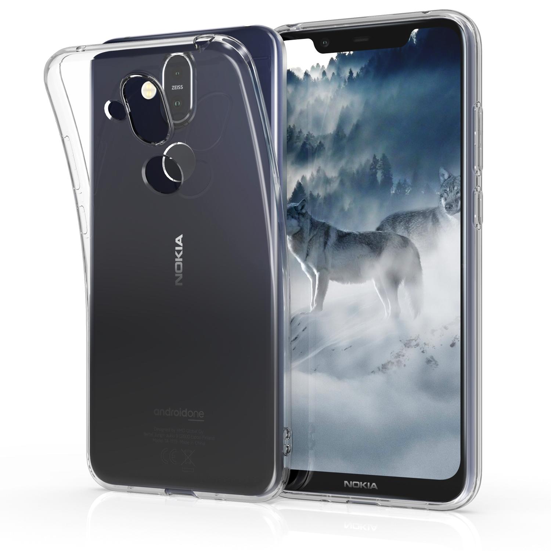 KW Διάφανη Θήκη Σιλικόνης Nokia 8.1 - Transparent (47174.03)