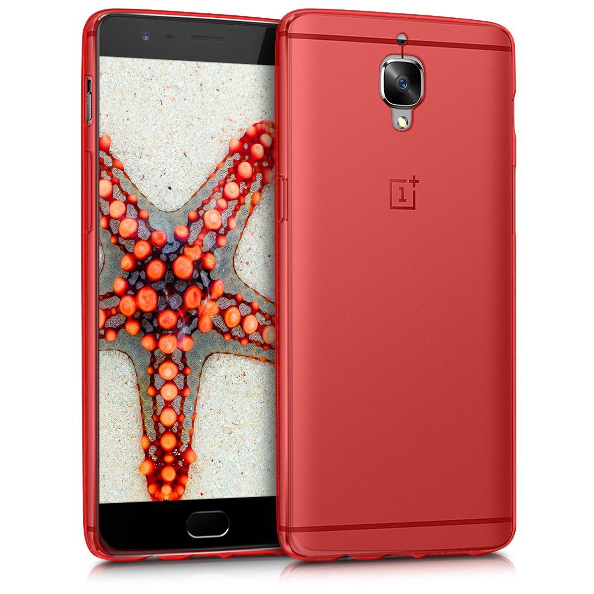 KW Θήκη Σιλικόνης OnePlus 3/3T - Red (38836.09)