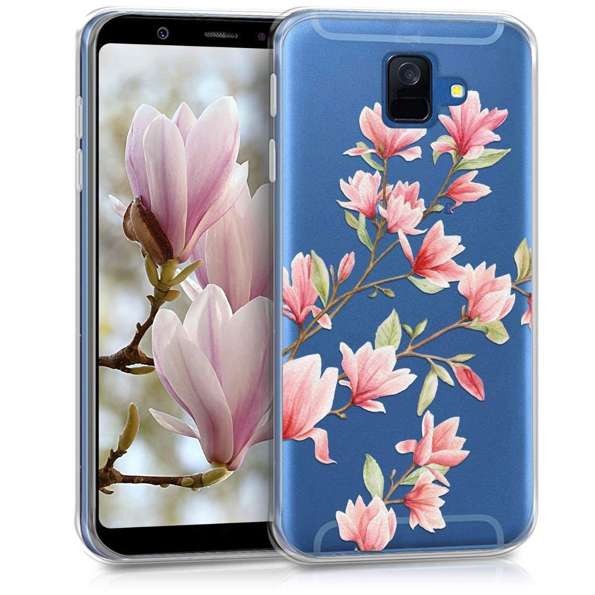 KW Θήκη Σιλικόνης Samsung Galaxy A6 2018 - Magnolias Light Pink White (45250.02)