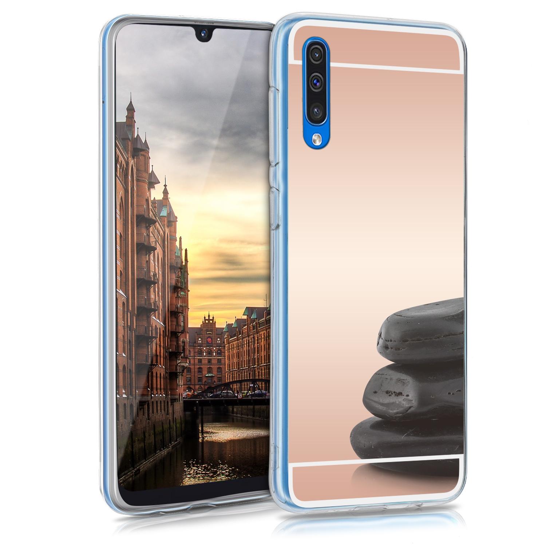 KW Θήκη Σιλικόνης Samsung Galaxy A50 - Rose Gold Reflective (48753.41)