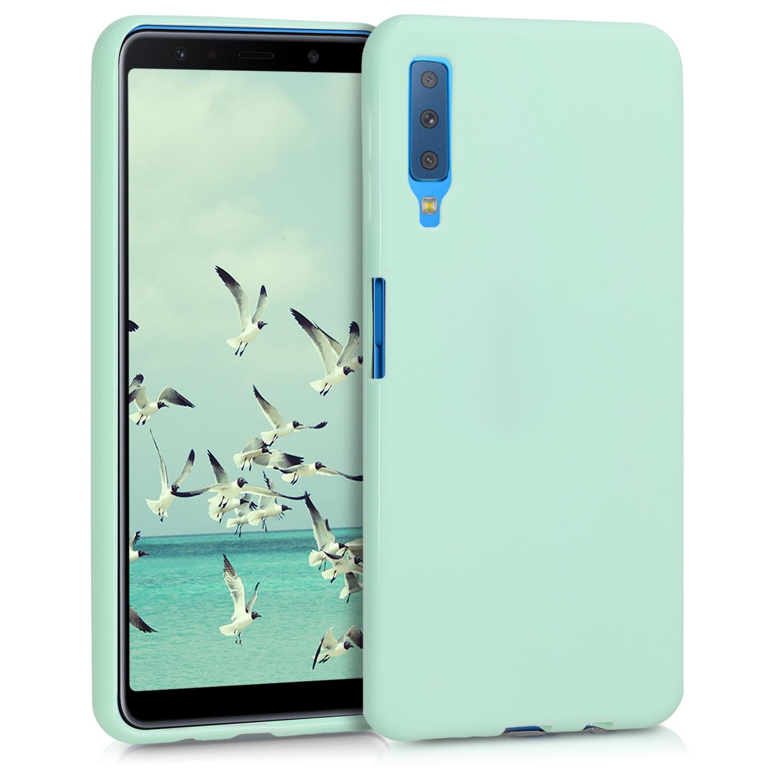 KW Θήκη Σιλικόνης Samsung Galaxy A7 2018 - Mint Matte (46422.50)