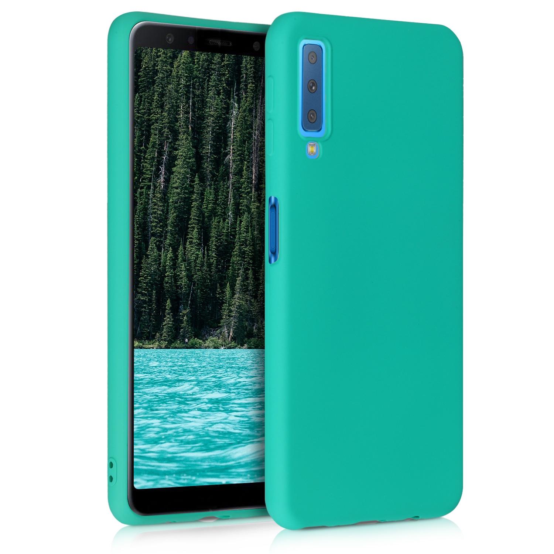 KW Θήκη Σιλικόνης Samsung Galaxy A7 2018 - Neon Turquoise (46871.126)