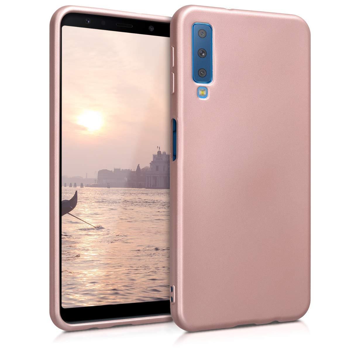 KW Θήκη Σιλικόνης Samsung Galaxy A7 2018 - Metallic Rose Gold (46421.31)