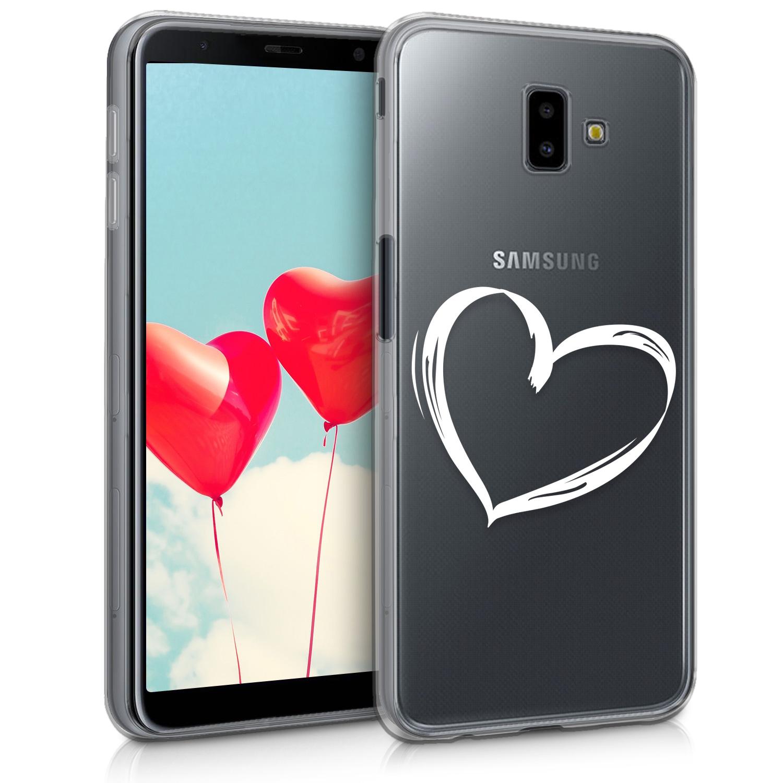 KW Διάφανη Θήκη Σιλικόνης Samsung Galaxy J6 Plus 2018 - Heart Design (46447.01)