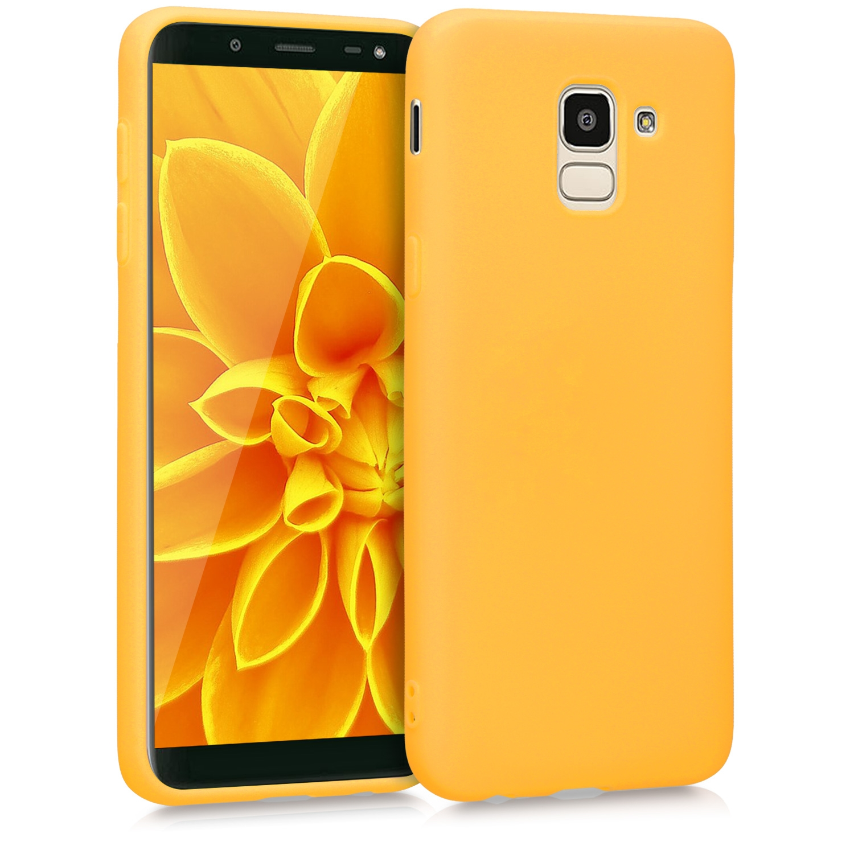 KW Θήκη Σιλικόνης Samsung Galaxy J6 - Honey Yellow (45796.143)