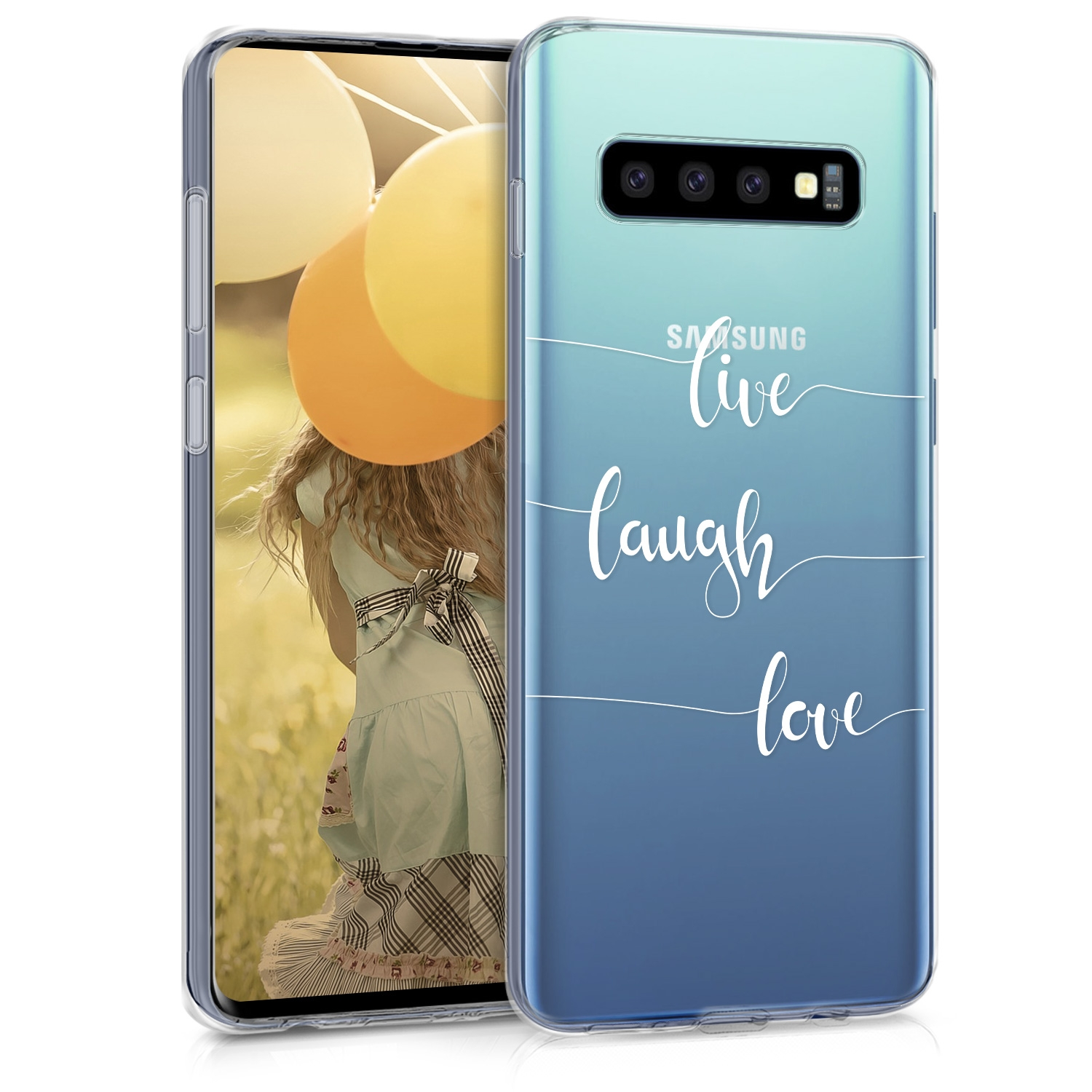 KW Θήκη Σιλικόνης Samsung Galaxy S10 - Live Laugh Love (47448.02)