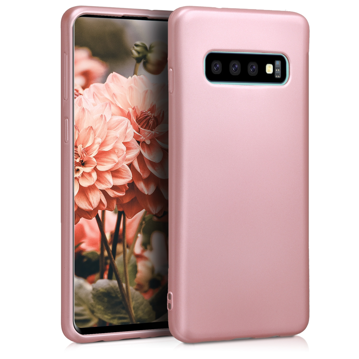 KW Θήκη Σιλικόνης Samsung Galaxy S10 - Metallic Rose Gold (47452.31)