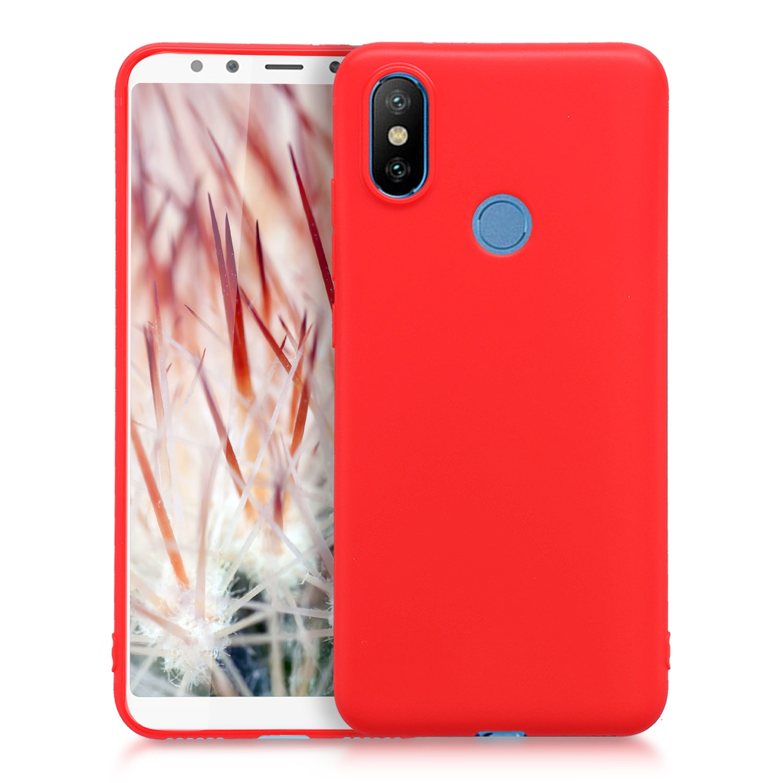 KW Θήκη Σιλικόνης Xiaomi Mi A2 / Mi 6X - Red (45063.51)