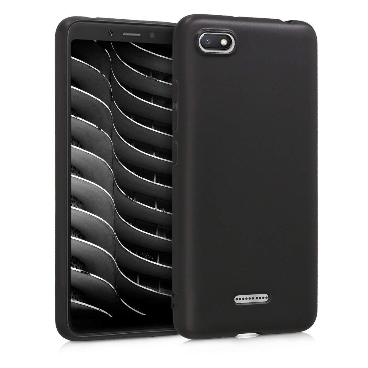 KW Θήκη Σιλικόνης Xiaomi Redmi 6A - Black Matte (45585.47)