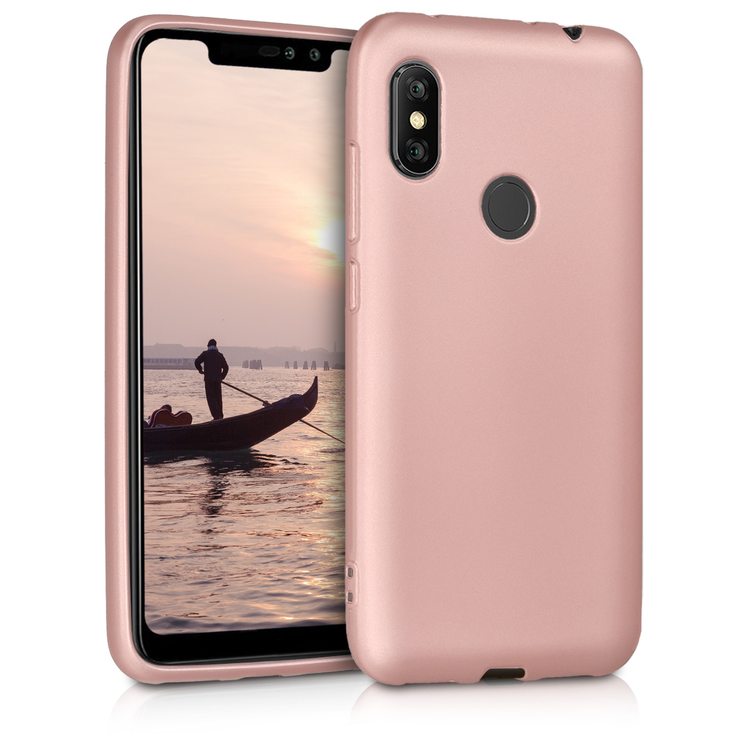 KW Θήκη Σιλικόνης Xiaomi Redmi Note 6 Pro - Metallic Rose Gold (46508.31)