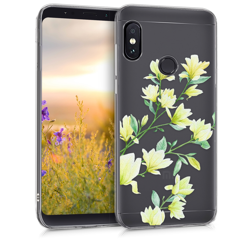 KW Θήκη Σιλικόνης Xiaomi Redmi Note 5 - Magnolias Yellow Green (45449.02)