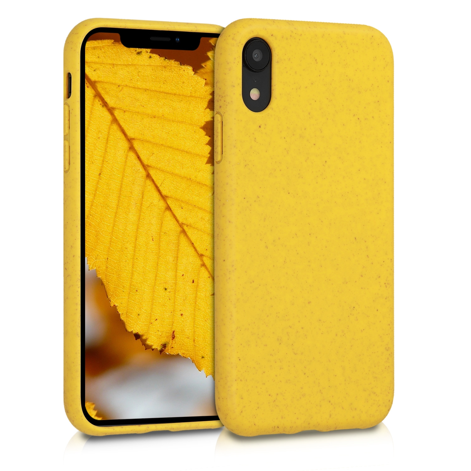 Kalibri Θήκη Σιλικόνης TPU & Natural Wheat Straw Apple iPhone XR - Yellow (49105.06)