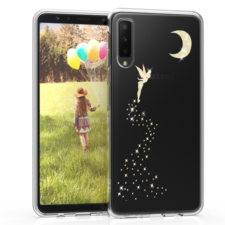 KW Διάφανη Σκληρή Θήκη Samsung Galaxy A7 2018 - Gold Fairy Glitter (46429.01)