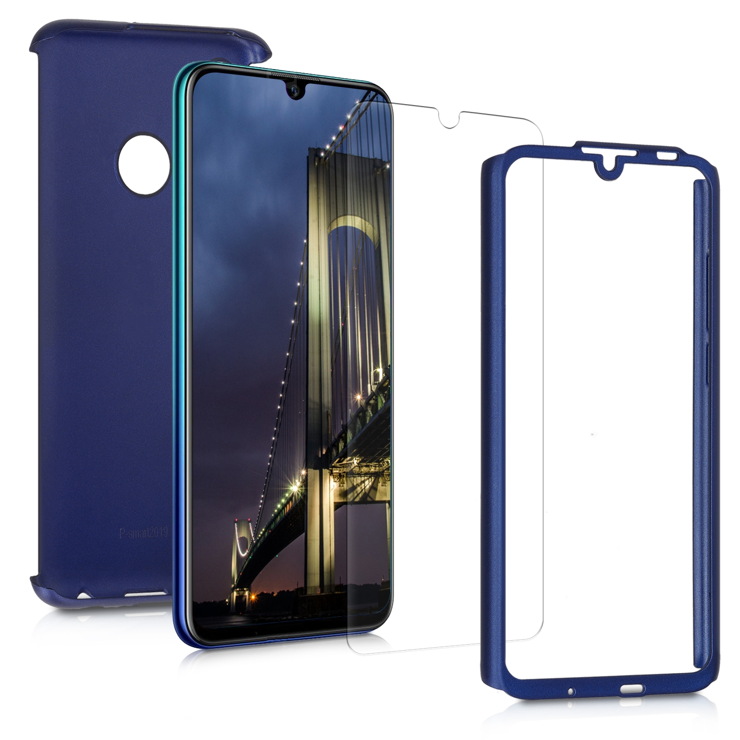 KW Θήκη Full Body Huawei P Smart 2019 & Tempered Glass - Metallic Blue (47391.64)
