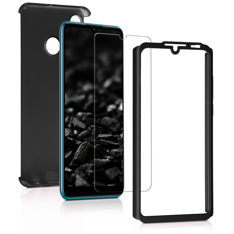 KW Θήκη Full Body Huawei P30 Lite & Tempered Glass - Metallic Black (47508.68)