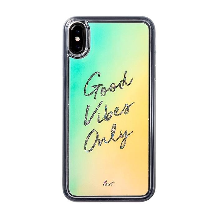 Laut Θήκη Liquid Glitter iPhone XS Max - Good Vibes Only (48919)