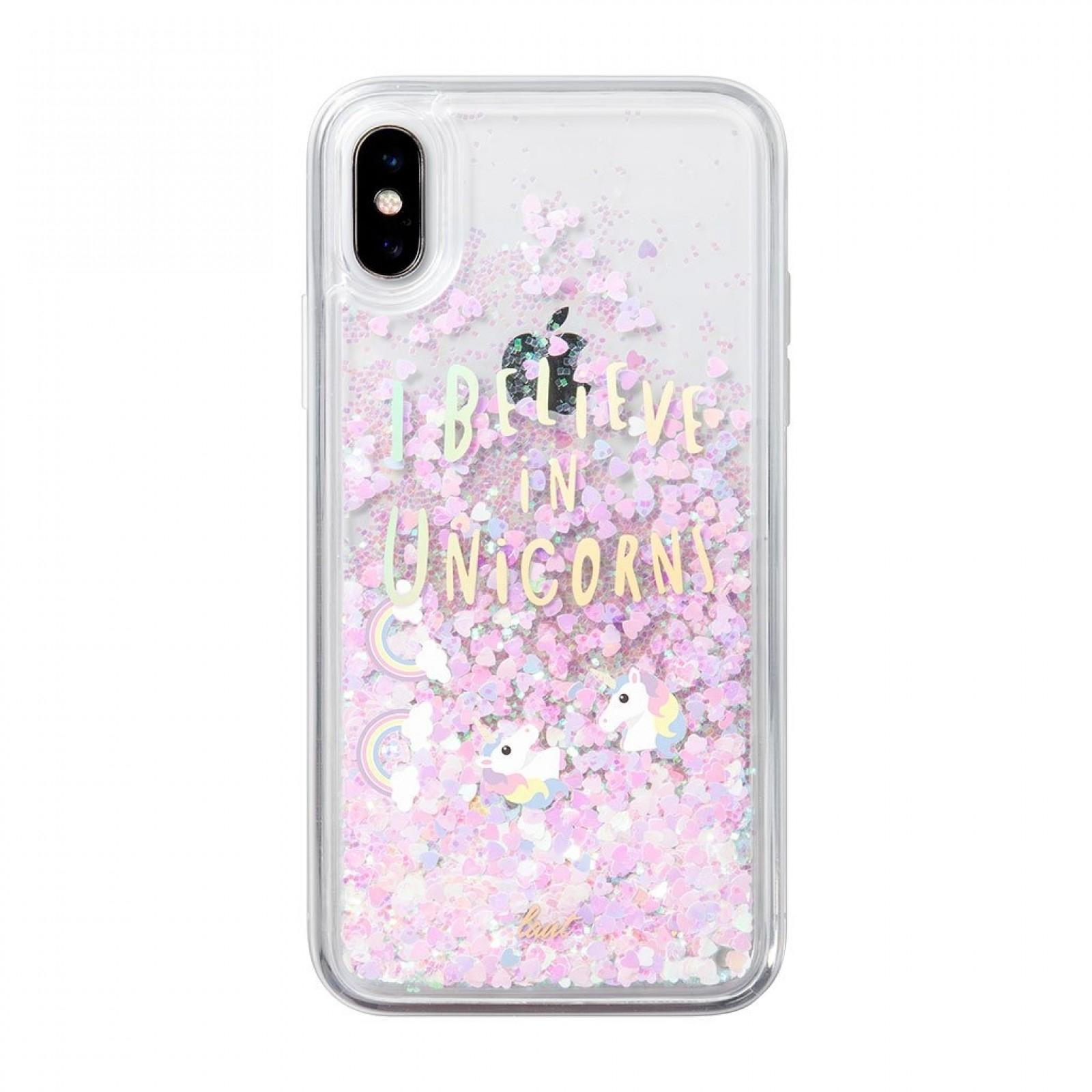 Laut Θήκη Liquid Glitter iPhone XS - I Believe In Unicorns (48917)