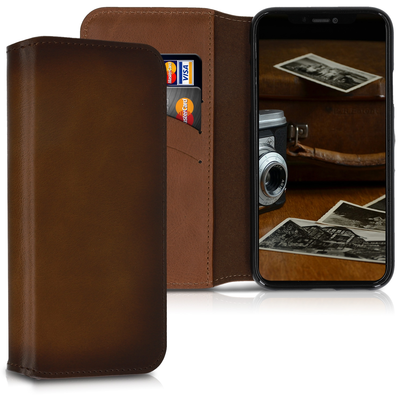 Kalibri Δερμάτινη Θήκη - Πορτοφόλι Apple iPhone XR - Vintage Brown (48207.133)